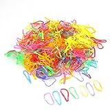 Tinksky 600 pçs Mini faixas de borracha oval multicolorida elástica rabo de cavalo