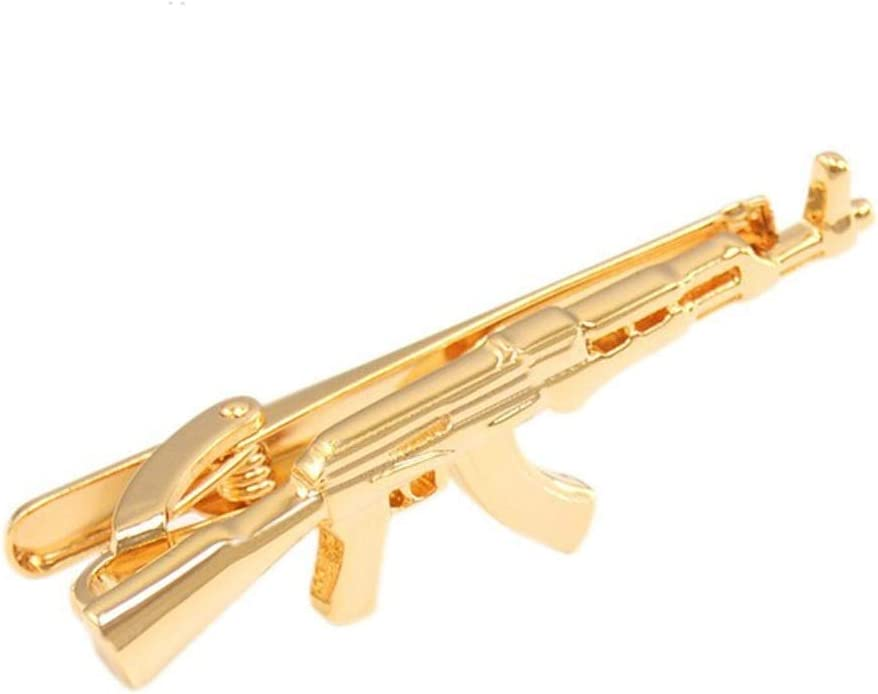 UXZDX Gold-Color Creativity Tie Clips for Mens Necktie Clamp Clasp Accessories Gift