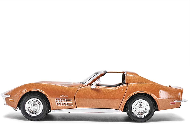 RUNWEI Corvette Car Model 1 24 Simulation Alloy Diecasting Toy orange Home Car Decoration