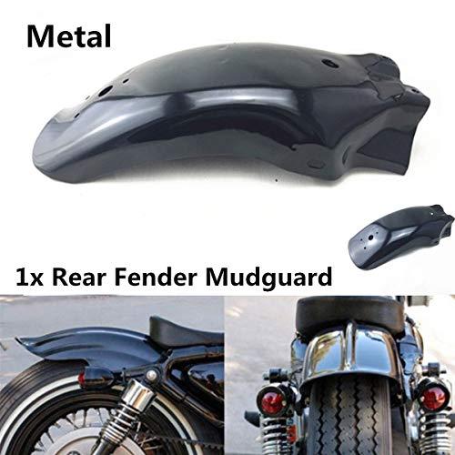 PJhao Guardabarros trasero universal de metal para motocicleta, guardabarros de rueda modificada