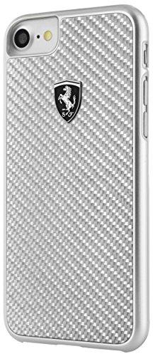 Ferrari FEHCAHCP7LSI CG - Funda para Apple iPhone 8 Plus/7 Plus, Color Plateado