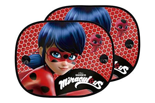 Ladybug LADYB101 Set mit 2 universellen Seitenvorhängen für Autos, grüne Farbe, Rot, Universal, Set of 2