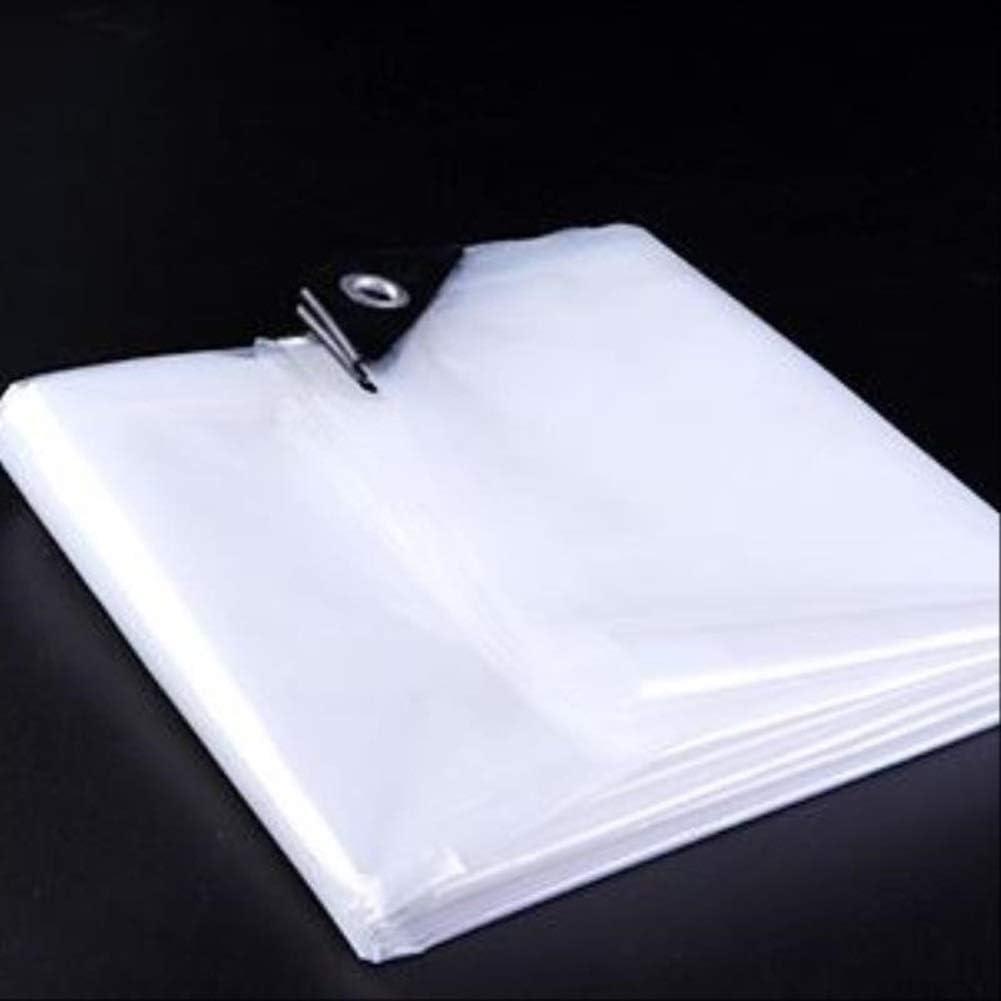 BWBG Lona Transparente Terraza,1x1m//3x3ft Lonas Transparentes Impermeables PE con Ojales Protecci/ón Solar Anti-UV Prueba De Viento Toldo Usar como Patio Macetas Autom/óviles