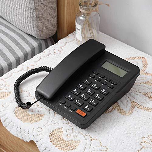 FOLOSAFENAR Volver a marcar el identificador de Llamadas Teléfono con Pantalla Teléfono de Oficina en casa con Pantalla Grande, teléfono con Cable para oficinas y hogares