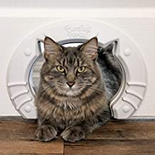 Cat Door Built In Interior Pet Door for Small, Medium, & Large Cats - Cat Doors for Interior Doors - Hole Pass Fits Indoor Hollow Core or Solid Inside Doors - Hidden Kitty Litter Box Cat Furniture
