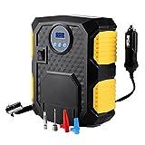 Mbuynow Compressore Portatile per Auto, 150PSI Pressione Programmabile Gonfiatore Digitale con Luce LED per Gonfiare Le Gomme delle Moto e delle Auto, Palloni, Canotti ECC