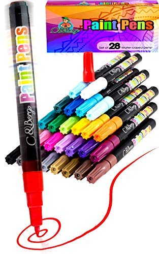 28 Paint Pens – Paint Marker Pens, Water Based Colors $13.99 (60% OFF Coupon)