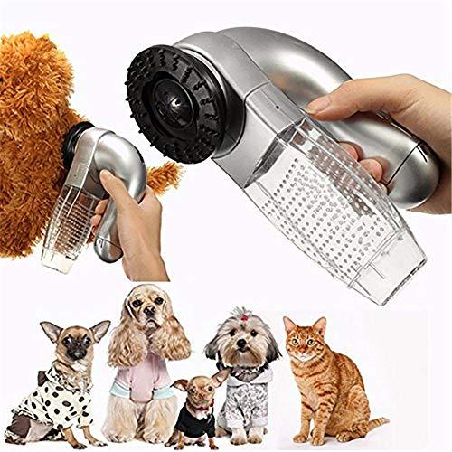 LONG-C Spazzola elettrica aspirante per Rimuovere i peli di Cani e Gatti, per la rimozione di peli di Animali, per Cani e Gatti, Adatto Durante Il Periodo di Muta