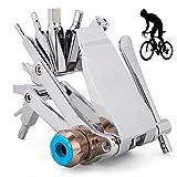 Kit Herramientas Bicicleta Plegable, Herramientas Reparación Bicicletas de Montaña, 16 Set/Aleación Herramienta de Multifunción, Se Puede Conectar a Un Cilindro de Nitrógeno, para el Ciclismo