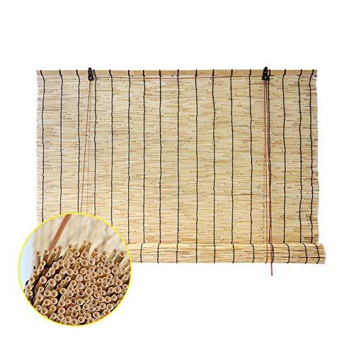 Küchen-Bambus-Rollläden, Die Natürliche Schilf-Sonnenschirme Anheben, Handgewebte Innen- Und Außenanpassungs-Grasverschluss Mit Zubehör