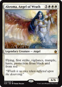 Magic: the Gathering - Akroma, Angel of Wrath - Akroma, Angelo Della Distruzione - Masters 25