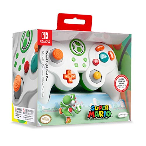 PDP - Mando Pro Fight Pad Con Cable Yoshi (Nintendo Switch)