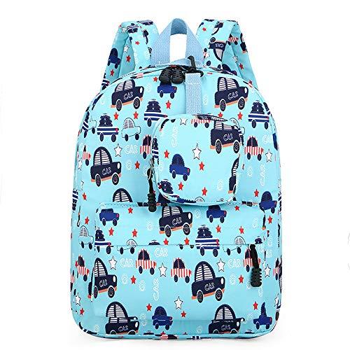 XMYNB Little Bear Kindergarten Baby School Bag Cartoon Cute Pig Children Mochila School Compact Car 26 * 11 * 35Cm