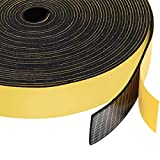Neoprene Rubber Foam Tape 1 Inch Wide x 1/16 Inch Thick, Adhesive High Density Close Cell Foam Strips Gasket for Door Insulation, 33 Ft Length