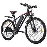 Winice Elektrofahrrad E-Bike Herren Damen,27.5 Zoll Ebike Mountainbike mit 350W Motor/36V 10.4AH Abnehmbarer Lithium Akku/Shimano 21-Gang Schalthebel,32 km/h Fullspeed,Reichweite 50km