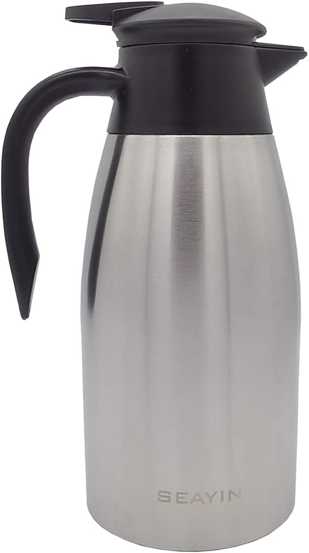 68oz Special Campaign Thermal Carafes Insulated Coffee Va Thermos Steel Cheap bargain Stainless