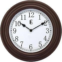 Geneva Clock Plastic Wall Clock, 11.5-Inch