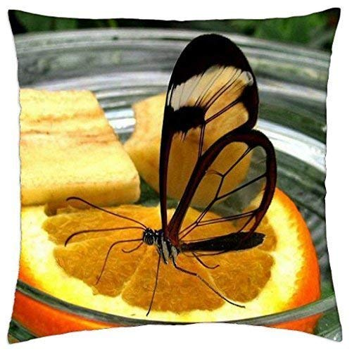 DKISEE Throw Pillow Case vitamine C vierkant canvas decoratieve Double Sided Cushion Cover voor bank bank en huis