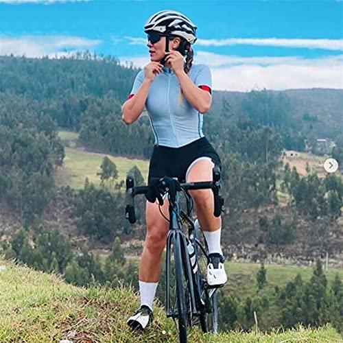 Triatlón ciclismo de ciclismo Jersey Ejercicio Ciclismo Traje para mujer Sudadera de mujer Camisa de manga corta Fitness Ciclismo y traje de bicicleta de montaña (Color : 5, Size : XXS)