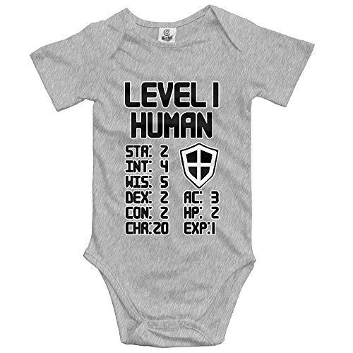 fhcbfgd Unisex Cosy Level 1 Human Short Sleeve Baby Onesies