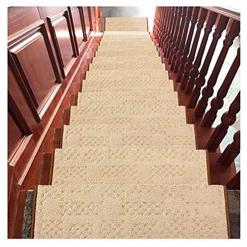 HYL Tappeti per Scale Tappetini per Scale Tappetini Antiscivolo per Tappeti 24x65cm 14mm Tappetini Antiscivolo (Color : E, Size : 5 Pieces Set)