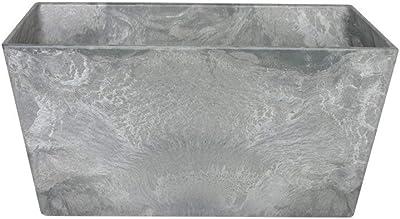 27 x 27 x 47 cm Esteras 8519718447 Naturelite Dundee 47 Warm Concrete rectangular planter 30 litres
