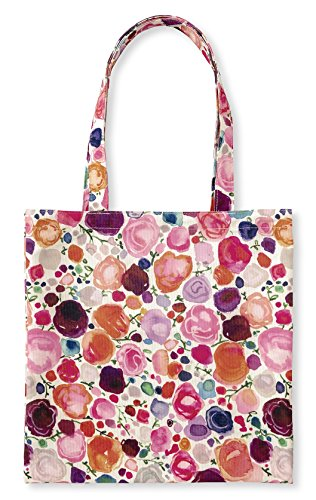 Kate Spade New York Pink Canvas Tote Bag with Interior Pocket, Floral