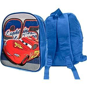 51CtogZ6PBL. SS300  - MC Mochila de Peluche 3D Cars Mochila para niños, 32 cm, Azul