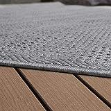 Paco Home In- & Outdoor Flachgewebe Teppich Terrassen Teppiche Natürlicher Look In Grau, Grösse:80x150 cm - 4