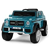 Fitnessclub 12V Kids Ride OnCar Licensed Mercedes-Benz G65 Electric Cars Motorized Vehicles w/2.4 GHZ Bluetooth, Parent Control, LED Lights, MP3 Player, PU Leather seat (Peacock Blue)