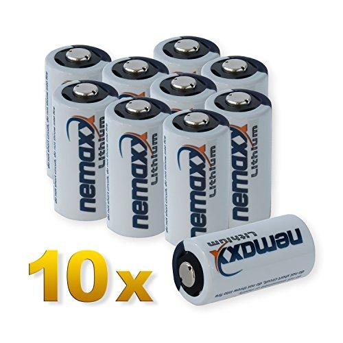 10x Nemaxx Batteria al Litio da 3 volt 1700mAh