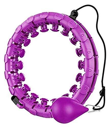 ZYF Hula Hoop Smart-Hula Aptitud del aro 24 Nudos extraíble Ajustable de Giro automático del aro de Hula Masaje Yoga, 24 Nudos (130 cm) (Color : Violett, Size : 24 Knots (130 cm))
