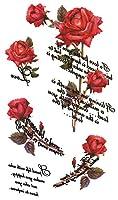 (キングホース) KING HORSE タトゥーシール 薔薇 ロース Rose-10【レギュラー】-7種類 (hm774)