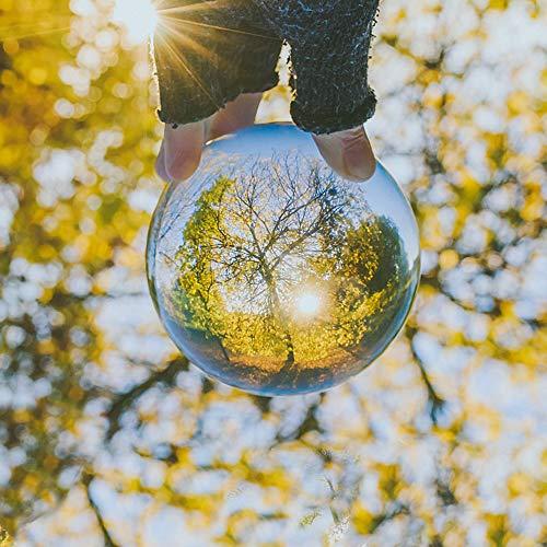 Kioneer klare Kristallkugel mit Kristallständer, 60 mm, magische Kugel, Dekoration für Zuhause, Party & Show (6 cm)