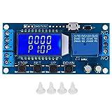 Módulo de relé de retardo de tiempo, 5V 12V 24V Módulo de relé de retardo de tiempo Temporizador de ciclo de retardo de apagado 0,01 s-9999 min con pantalla LCD, placa controladora de retardo 0,01 s-9