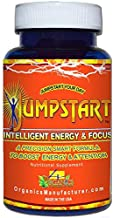 Jumpstart EX Energy, Focus & Mood Enhancer Nootropic Support Supplement (60 Capsule Bottle) by 4 Organics - Best Natural Energy Pill Booster - Long Lasting - No Jitters