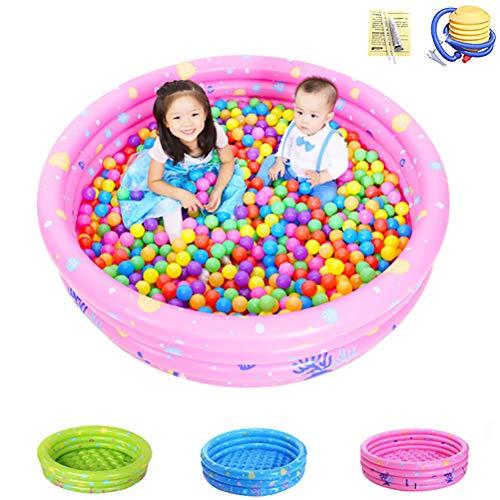 Verwisselbare Kleuterbad Anti-Slippery Opvouwbaar Water Pool Voor Kids Fun Backyard Toys Kids Zwembad Voor Age 2+,Pink,four rings 150cm