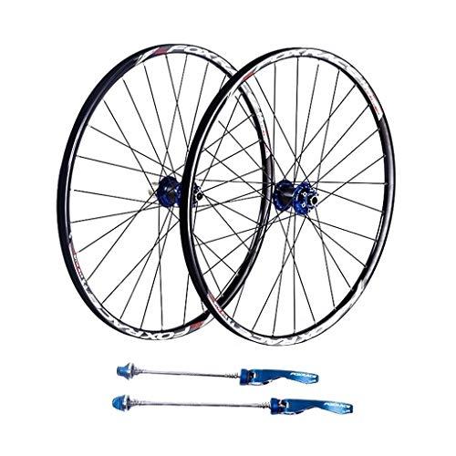 NS Ultraligero Ruedas MTB 26, Fibra de Carbono Ultraligero Doble Pared de Ruedas de la Bici MTB V-Brake híbrido 24 Agujero Disco 8 9 10 Negro Velocidad Actuación (Size : 27.5inch)