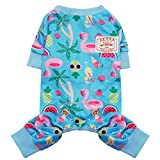 kyeese Dog Pajamas Lightweight Flamingo Dog Pjs for Small Dogs Cat Pajamas Great for Summer Dog Onesie Doggie Jammies Dog Clothes