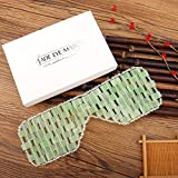 Deciniee Jade Mask for Eyes-100% Natural Jade Stone Mask-Face Massager Sleep Mask Cooling Eye Mask for Cold Therapy-Help Reduce Puffy Eyes/Sinus/Headache/Migraine Relief