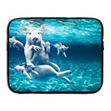 Underwater Pigs Pattern Business Briefcase Laptop Sleeve For 13 Inch Macbook Pro Air Lenovo Samsung Sony