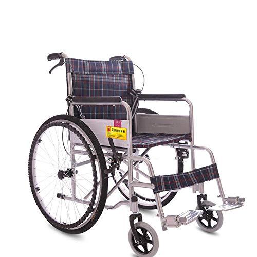 JingYing Geeignet Für Ältere Rollstuhl Faltbar Trommelbremse Reiserollstuhl Transportrollstühle Stahl Reiserollstuhl Mit Tasche