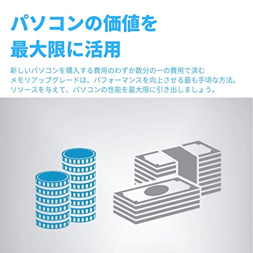 『CFD販売 ノートPC用メモリ PC4-19200(DDR4-2400) 8GB×1枚 / 260pin / 無期限保証 / Crucial by Micron / D4N2400CM-8G』の2枚目の画像