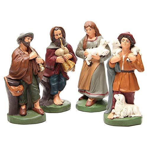 Holyart Pastores Terracota Pintada bel?n 30 cm, 4 Figuras