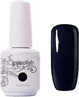 Clou Beaute Nail Gel Polish - 15ml Soak Off Nail Polish New Design UV Led Quick Dry, For Nail Care Art Manicure Varnish Salon Kit Black Blue 11117