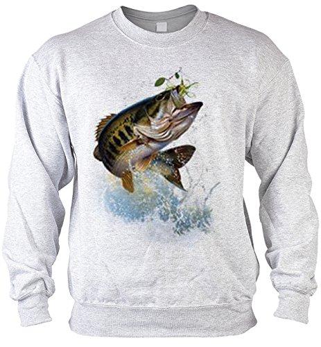 Mega-Shirt Sweater Fish and Hook Angler Pullover für Fischer Artikel für Angler Angeln Fischer Artikel für Männer Angelprodukte Produkt zum Fischen Gr: M
