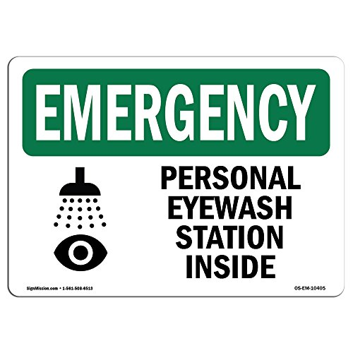 """OSHA Emergency Sign - Personal Eyewash Station Inside With Symbol 