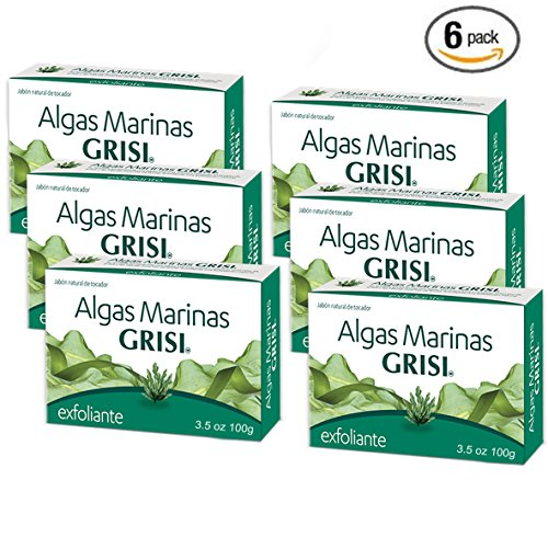 6pk - Seaweed Soap - Jabon de Algas Marinas - Grisi (3.5 Oz. X 6 Units)