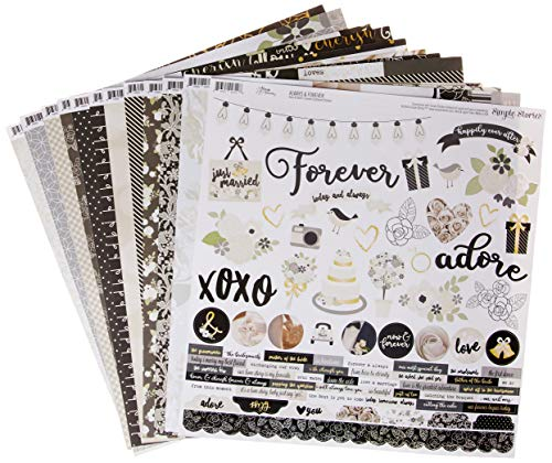 Simple Stories Always & Forever Kit de colección, Multicolor, Large