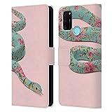 Head Case Designs sous Licence Officielle Paul Fuentes Serpent Floral Animaux 3 Coque en Cuir à...